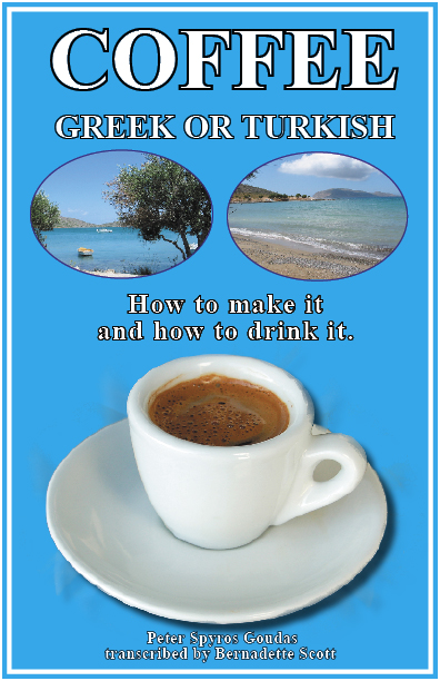 "COFFEE GREEK BOOK BY Spyros Peter Goudas "" This book explores the social traditions and the history of Greek Coffee. But be warned, after reading this if you're willing to try it you can risk becoming hooked on Greek Coffee for the rest of your life!"