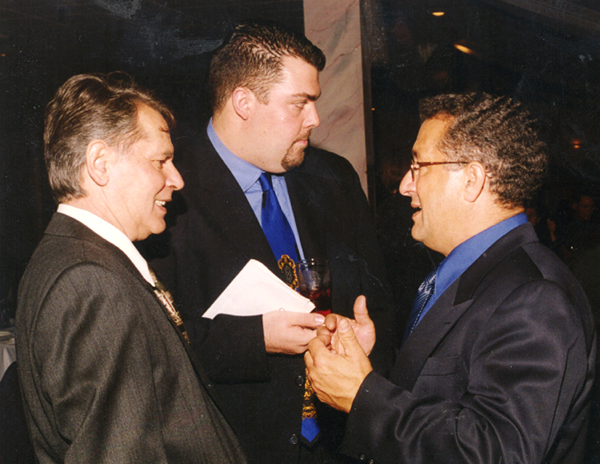Spyros Peter Goudas (left), Mr. Christos Lanis and  Mr. Paul Nitsotolis