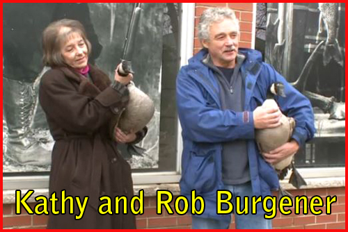 photo of Kathy and Rob Burgener geese Windsor Ontario 2014