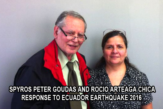 Spyros Peter Goudas and Rocio Arteaga Chica in response to Ecuador Earthquake 2016