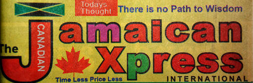 Photo of Jamaican Xpress Newspaper which featured the article What Would Canada Be Without Mr. Spyros Peter Goudas
